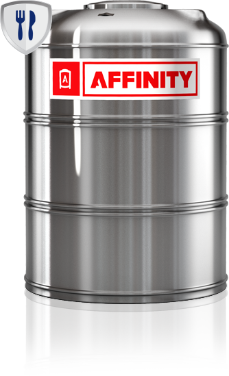 Tanque Affinity acero base